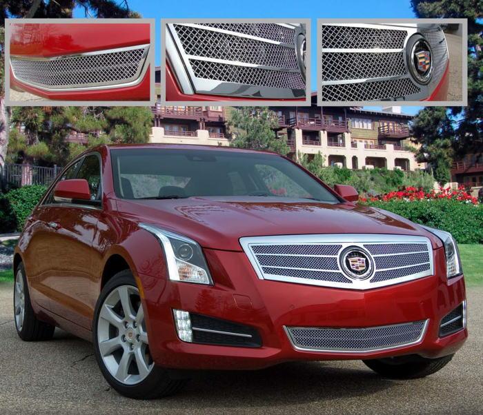 Cadillac Ats 2012: キャデラック ATS カスタム グリル:クローム/ステンレス/ビレット:E&GクラシックスUSA製・クロームグリル: ファイン メッシュ・グリル:EG-CAD-ATS-01*