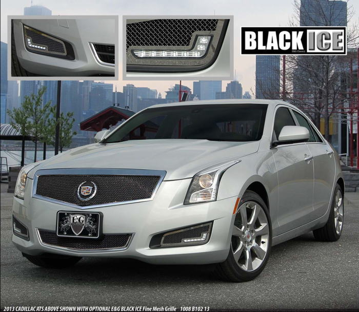 Cadillac Ats 2012: キャデラック ATS カスタム グリル:クローム/ステンレス/ビレット:E&GクラシックスUSA製・OPT ブレーキ・ダクト・カバー・ブラック・ファイン・LED:EG-CAD-ATS-DCL-B*